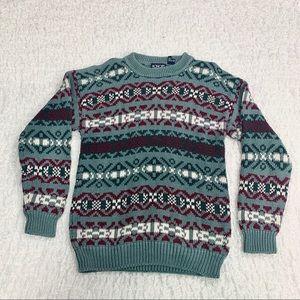 Vintage chunky knit oversized grandpa sweater M